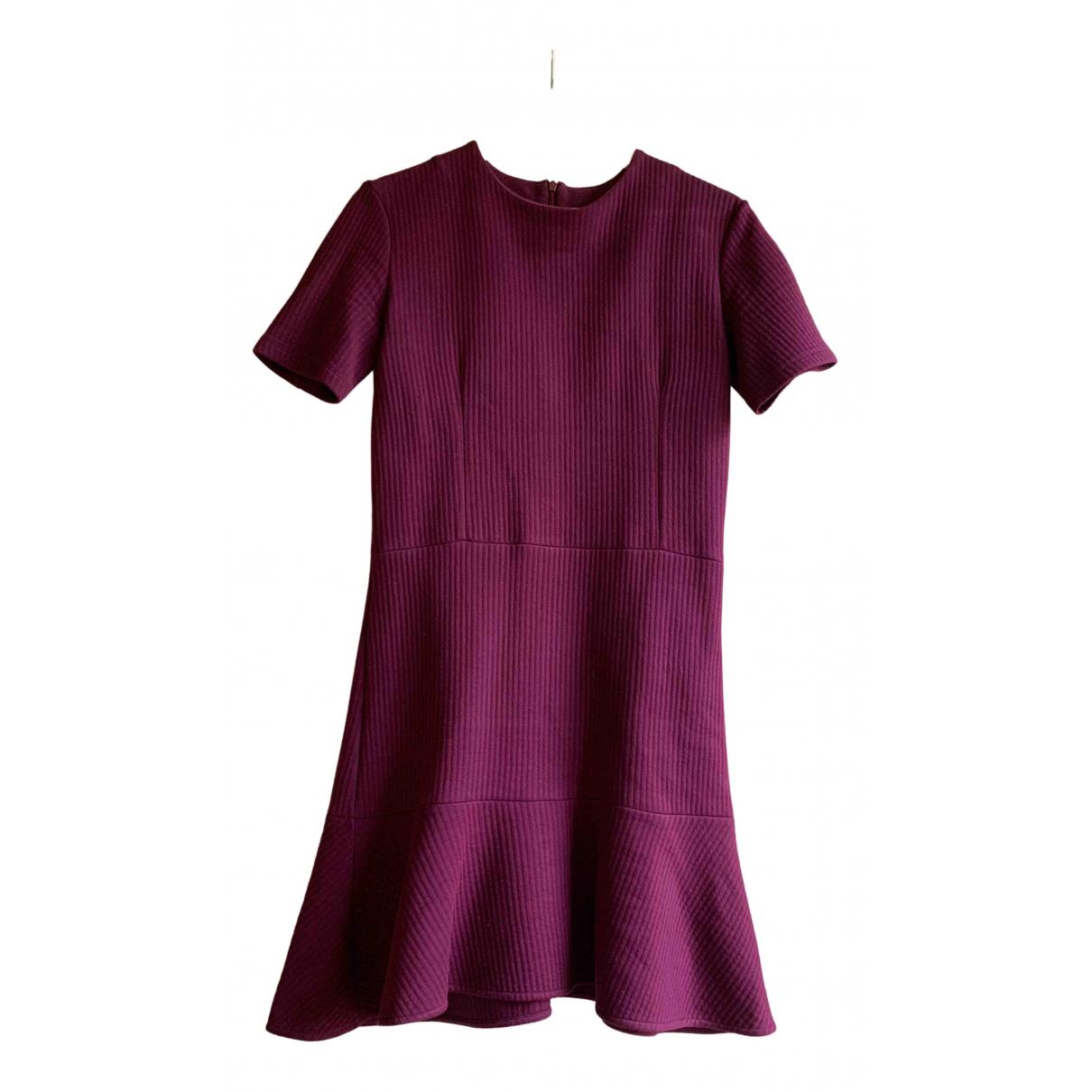 Carven - Robe   pour femme en coton - elasthane - violet