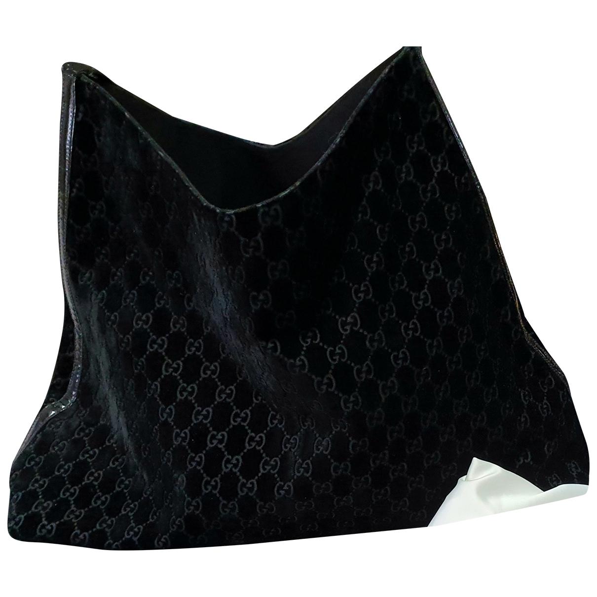 Gucci - Sac a main   pour femme en velours - noir