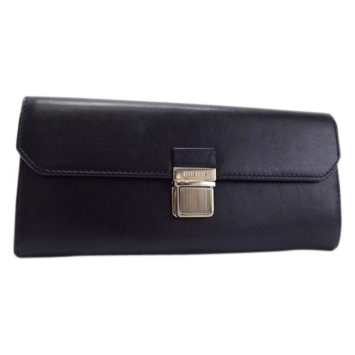Miu Miu \N Black Leather wallet for Women \N