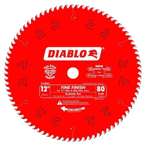 Diablo 12 in x 80 Tooth Fine Finish Saw Blade