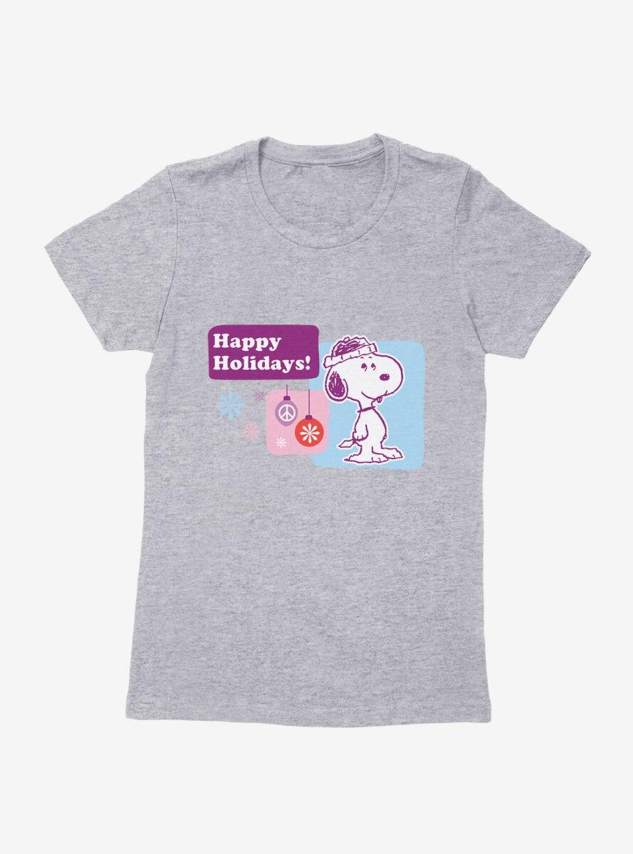 Peanuts Happy Holidays Snoopy Womens T-Shirt
