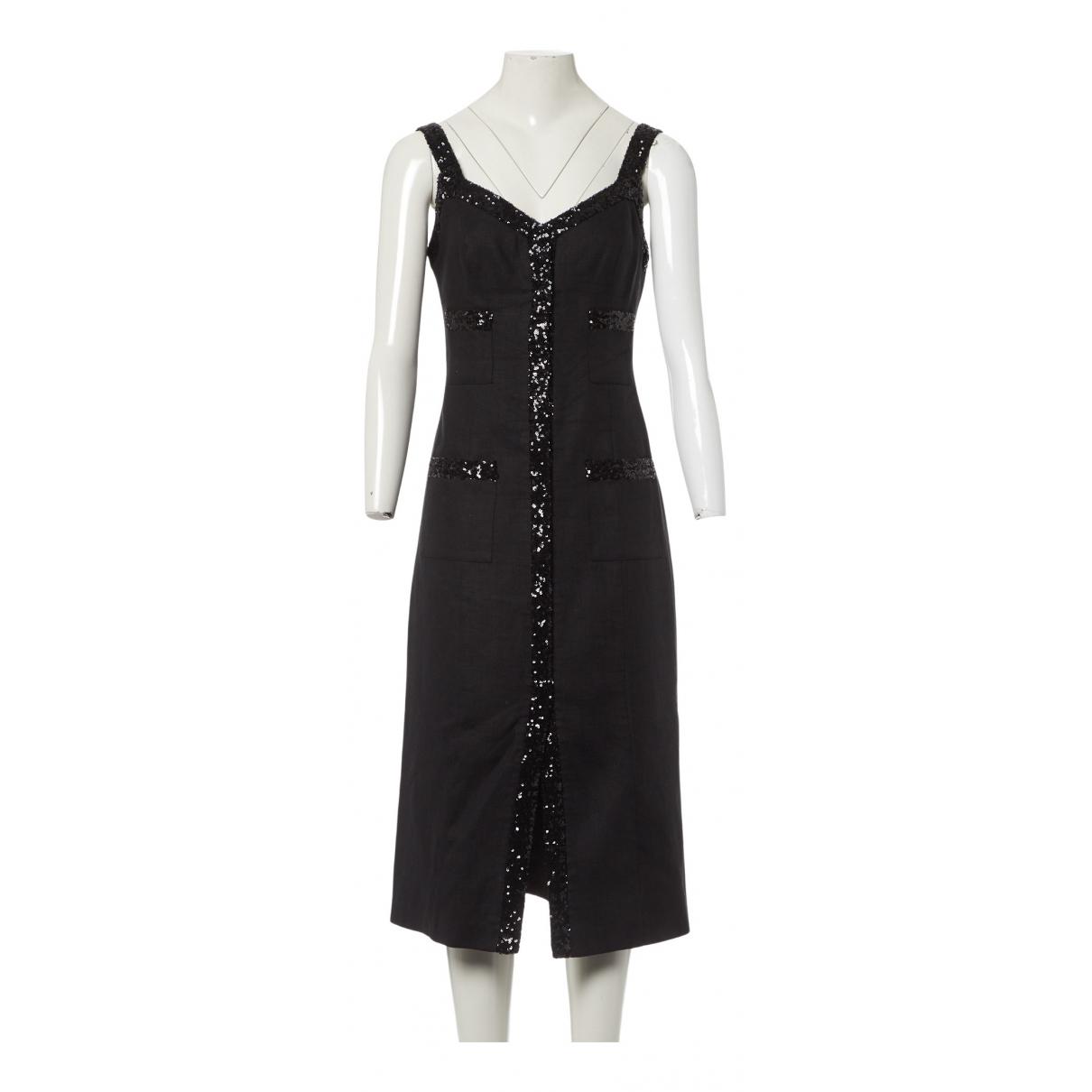 In The Mood For Love N Black Linen dress for Women S International
