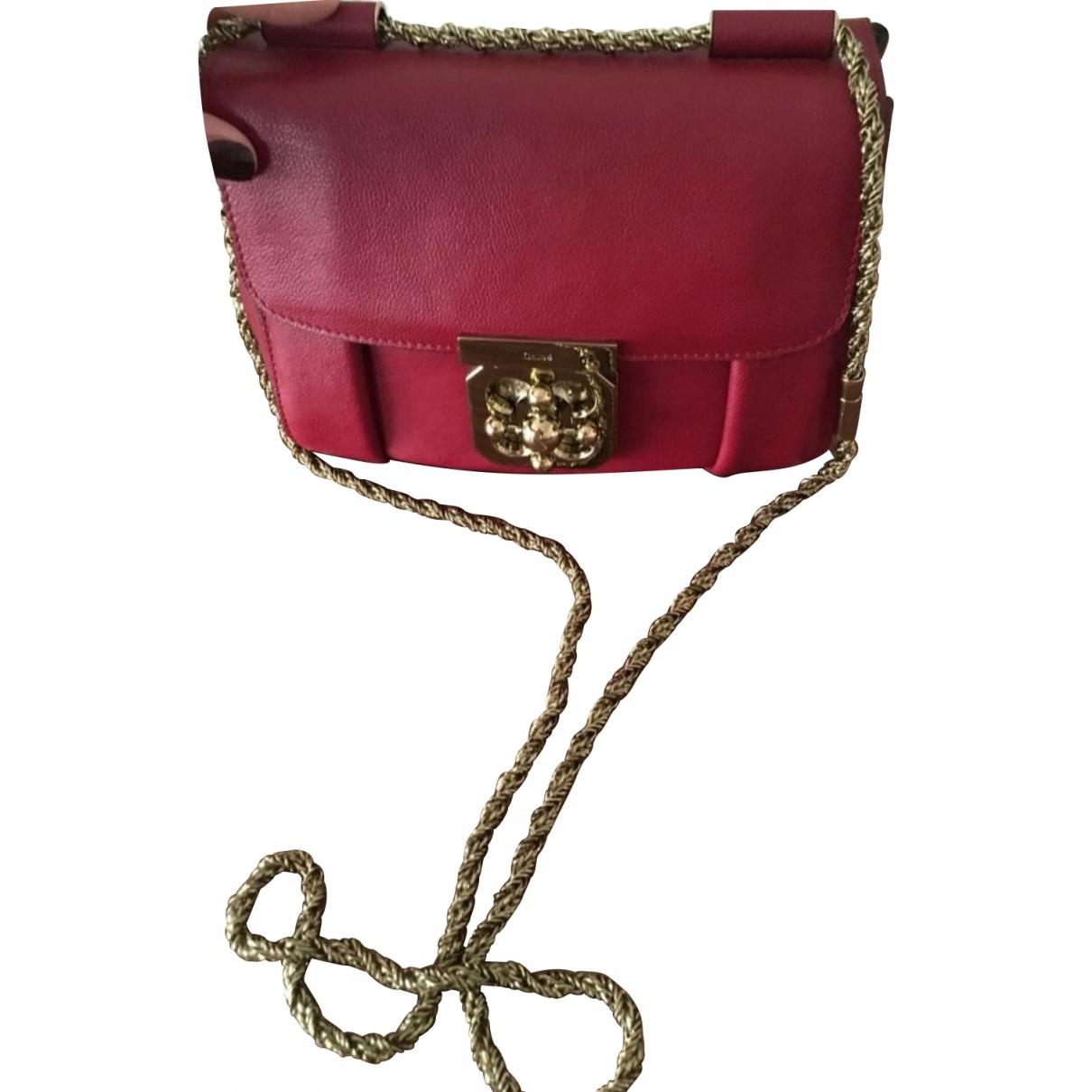 Chloé Elsie Burgundy Leather handbag for Women \N