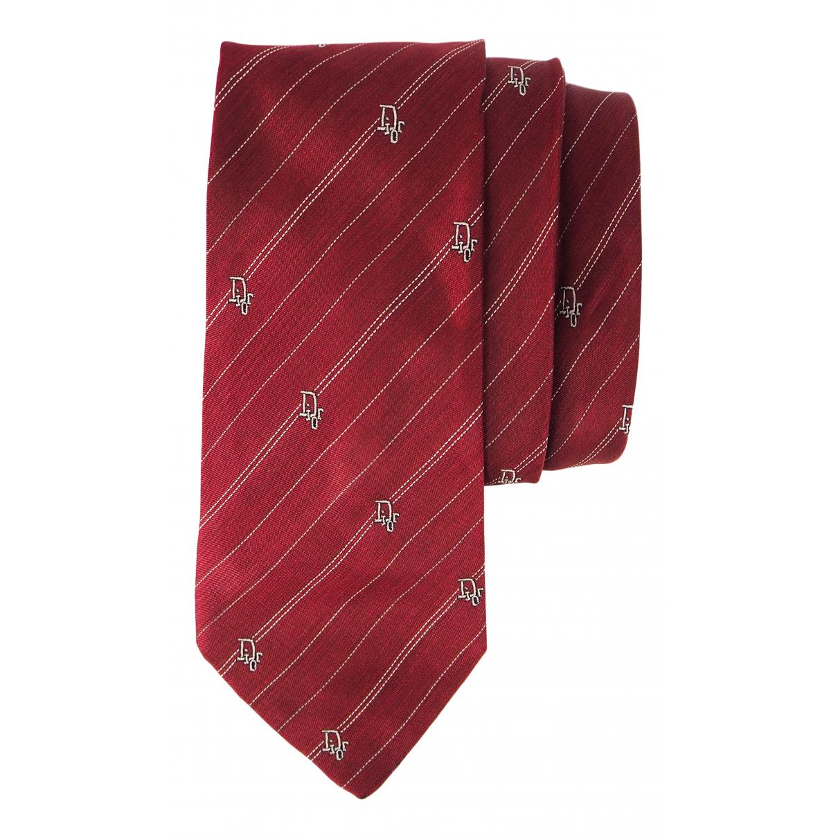 Dior \N Krawatten in  Bordeauxrot Seide