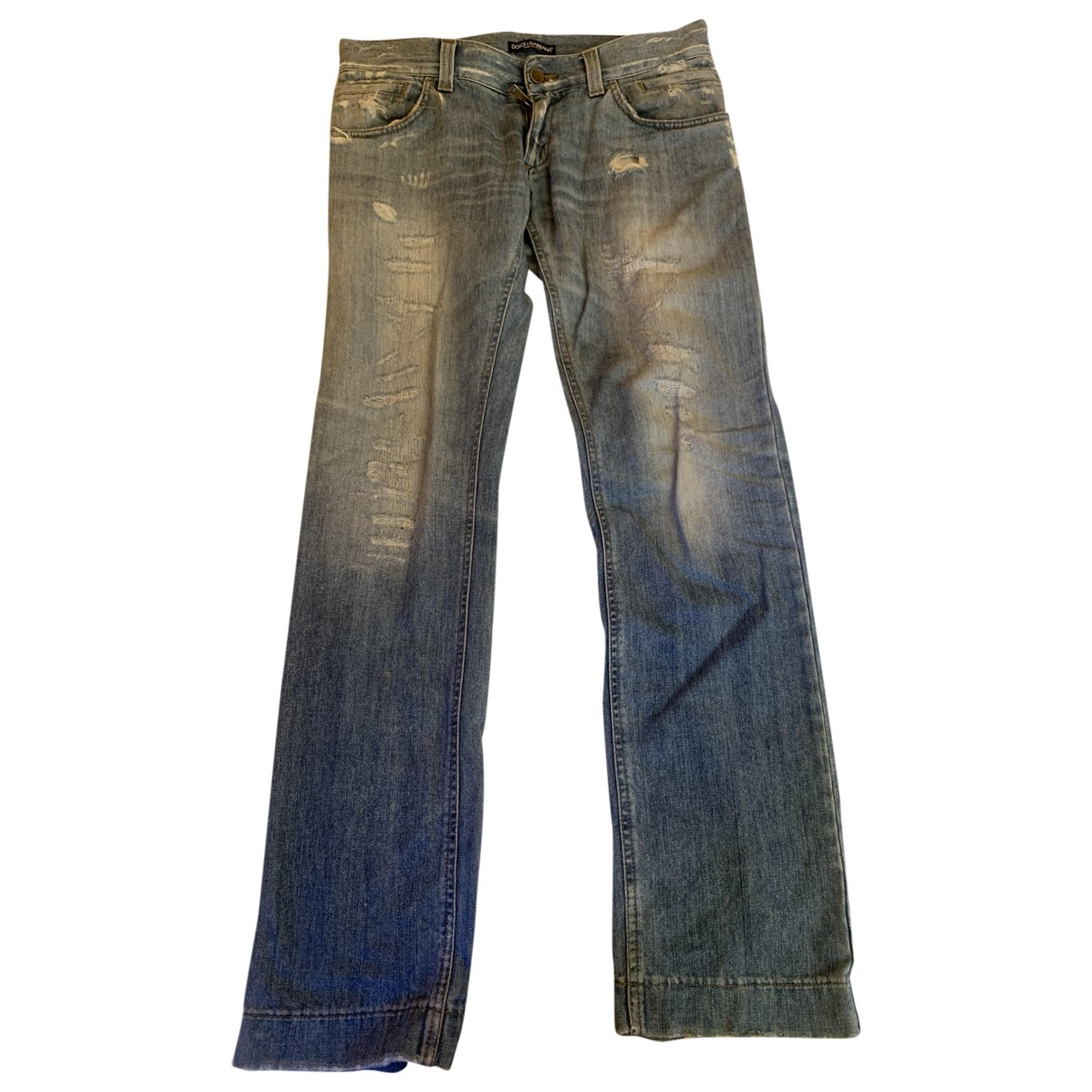 Dolce & Gabbana \N Blue Cotton Jeans for Men 42 FR