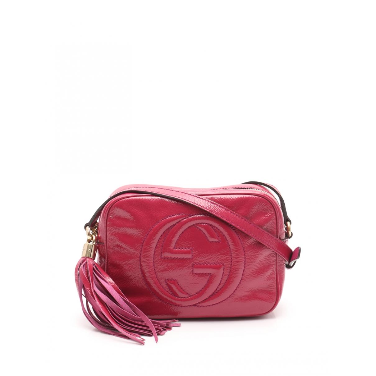 Gucci Soho Handtasche in  Rosa Lackleder