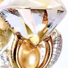 1pc Diamond Ring Shaped Balloon