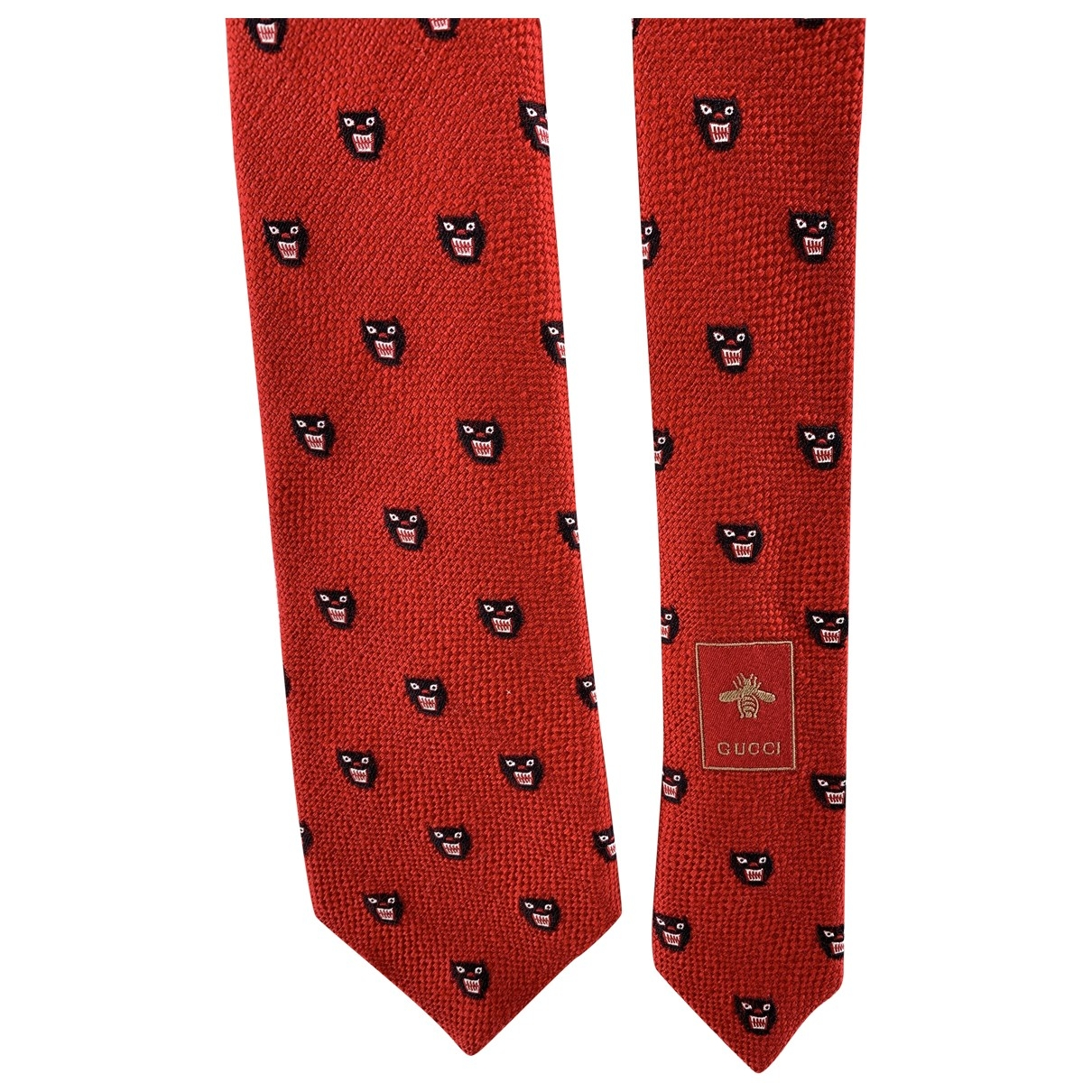 Gucci \N Red Wool Ties for Men \N