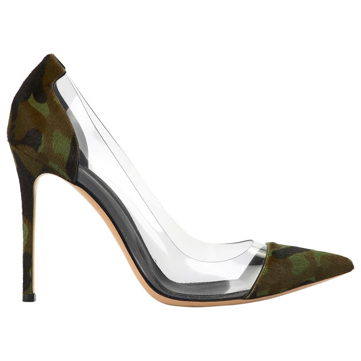 Gianvito Rossi - Escarpins Plexi pour femme en cuir - vert