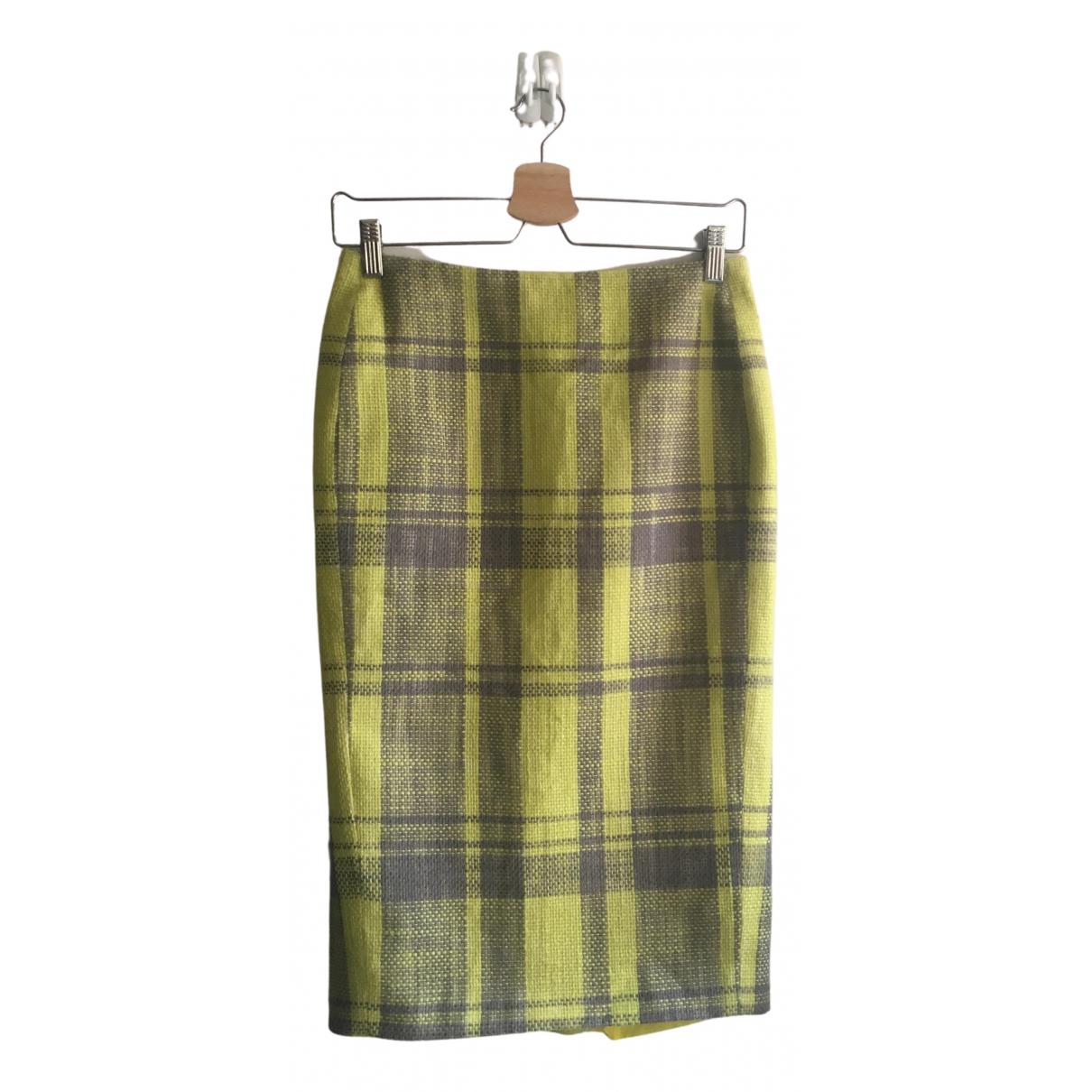 Calvin Klein Collection N Yellow Wool skirt for Women 36 FR