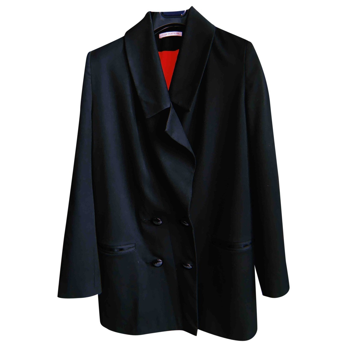 Non Signe / Unsigned Oversize Jacke in  Schwarz Wolle