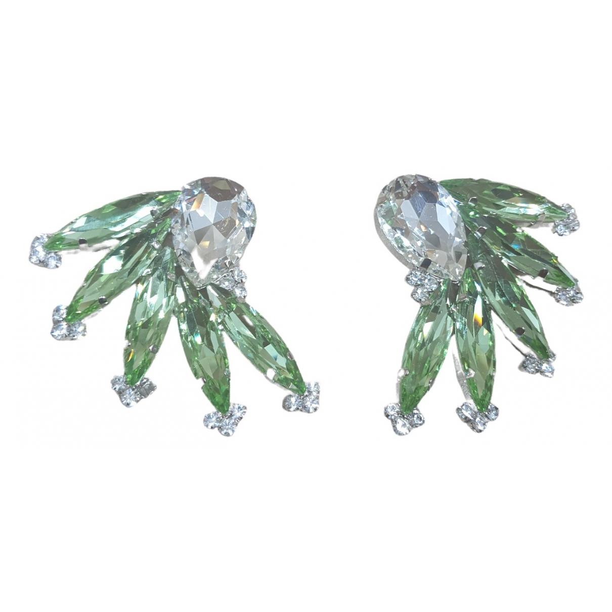 Alessandra Rich \N OhrRing in  Gruen Kristall