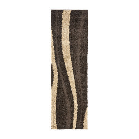 Safavieh Shag Collection Kimmee Abstract Runner Rug, One Size , Multiple Colors