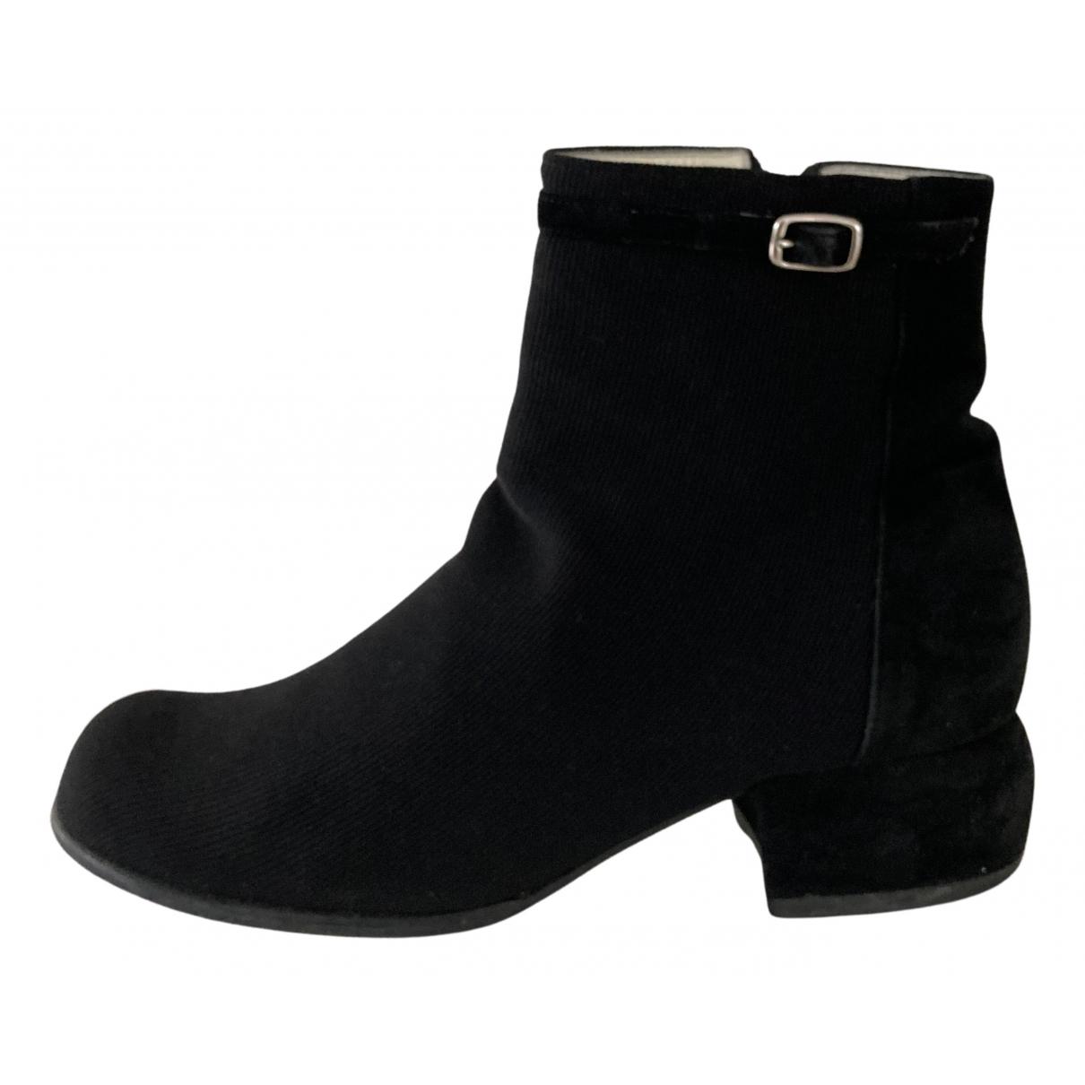 Charles Jourdan - Boots   pour femme en toile - noir