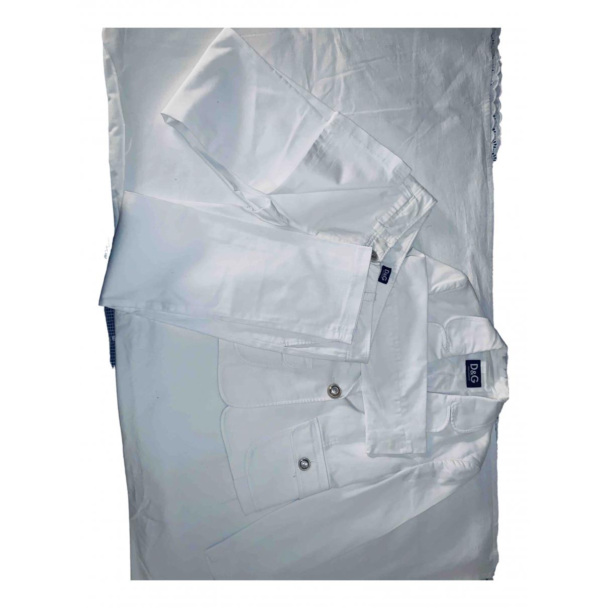 D&g - Veste   pour femme en coton - blanc