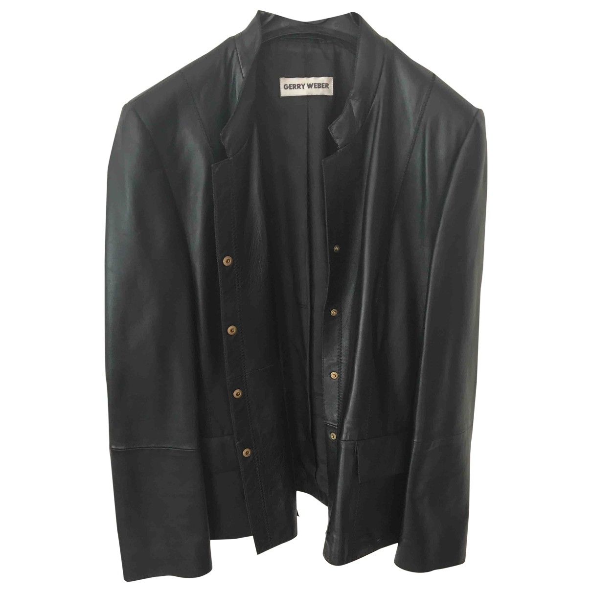 Non Signé / Unsigned \N Black Leather jacket for Women 48 IT