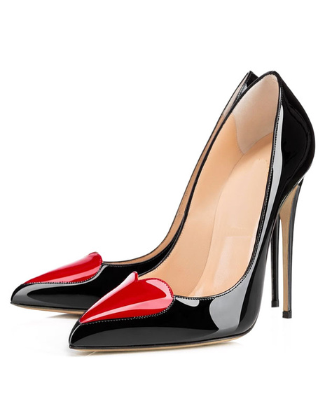 Milanoo Women's Pointed Toe Dress Shoes Stiletto High Heel Sexy Pumps in Black Shoes