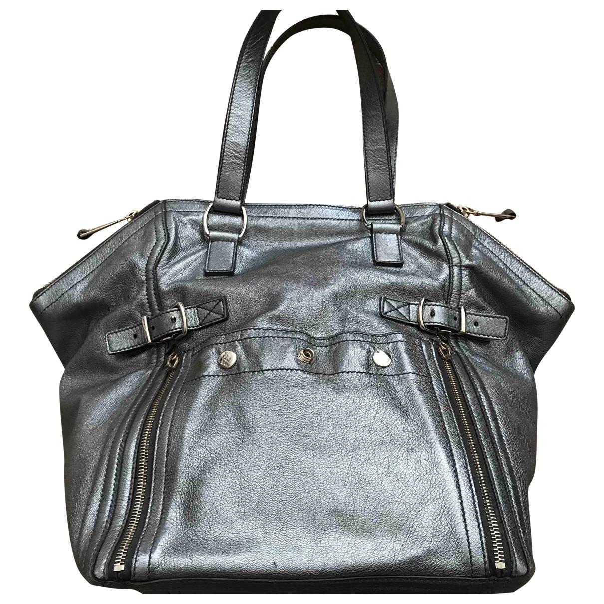 Yves Saint Laurent Downtown Metallic Leather handbag for Women \N
