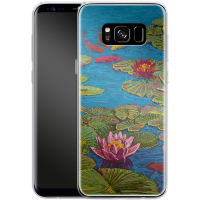 Samsung Galaxy S8 Silikon Handyhuelle - Will Cormier - Six Koi in Lilly Pond von TATE and CO