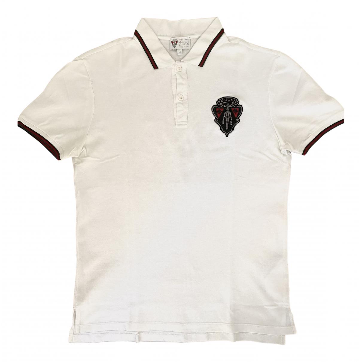 Polo en Algodon Blanco Gucci