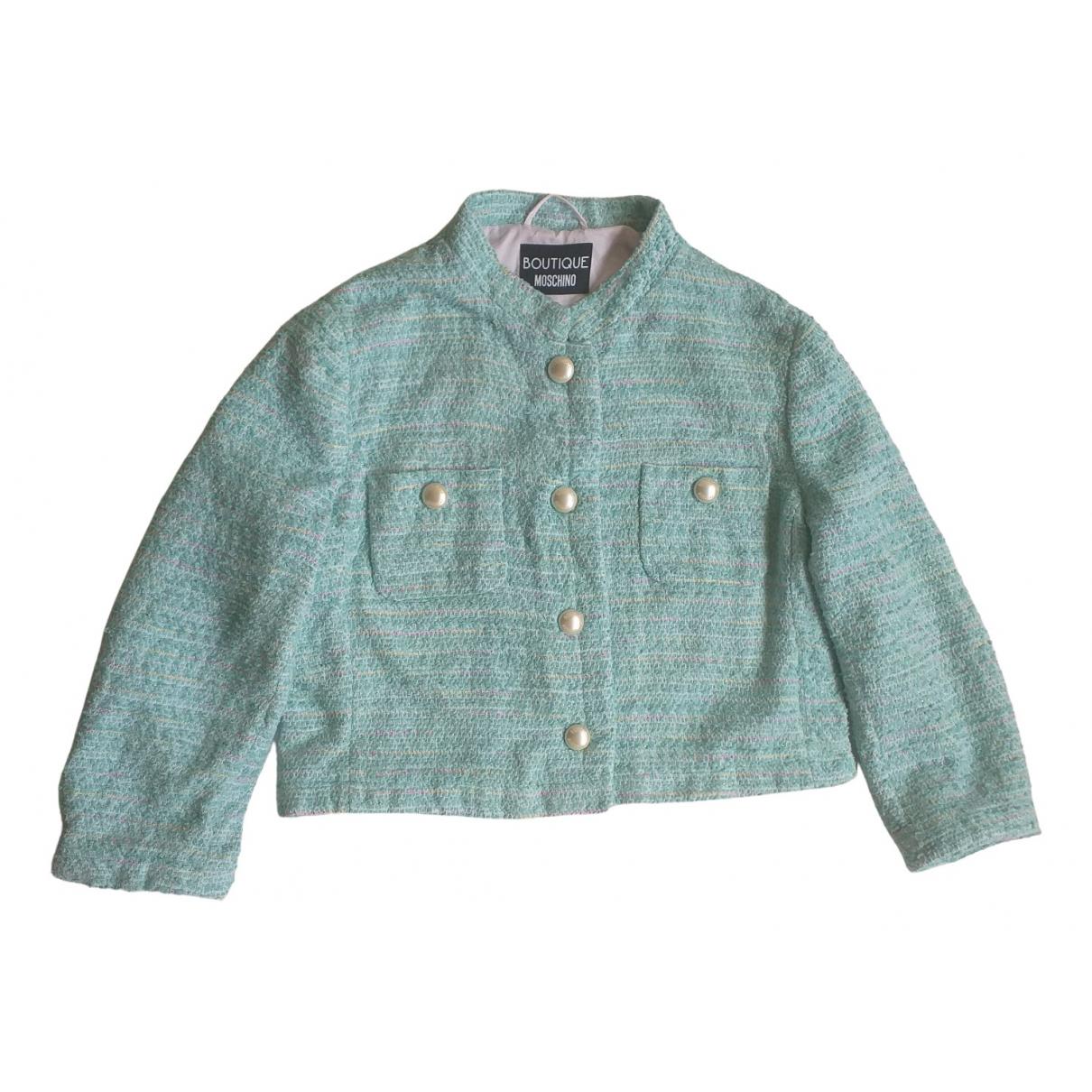 Moschino - Veste   pour femme en tweed - vert