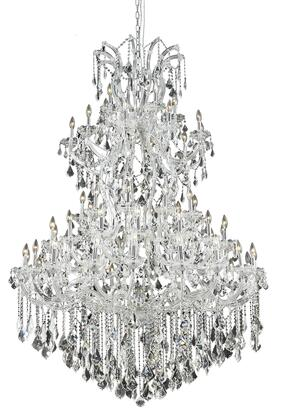 2800G54C/RC 2800 Maria Theresa Collection Large Hanging Fixture D54in H72in Lt: 60+1 Chrome Finish (Royal Cut