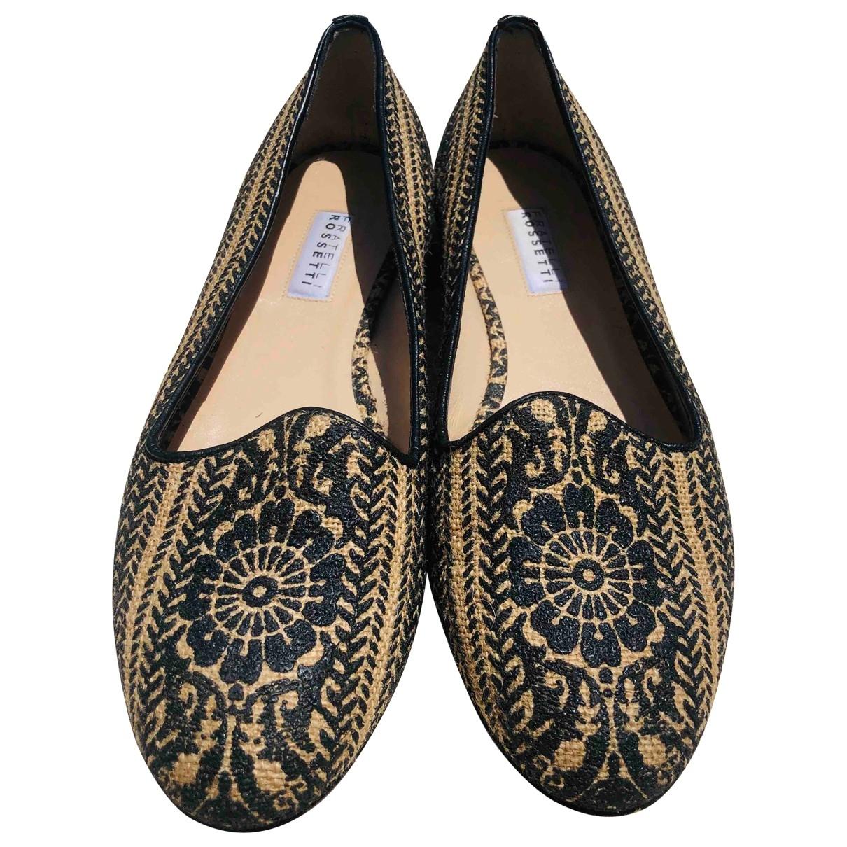 Fratelli Rossetti \N Black Leather Flats for Women 37 EU