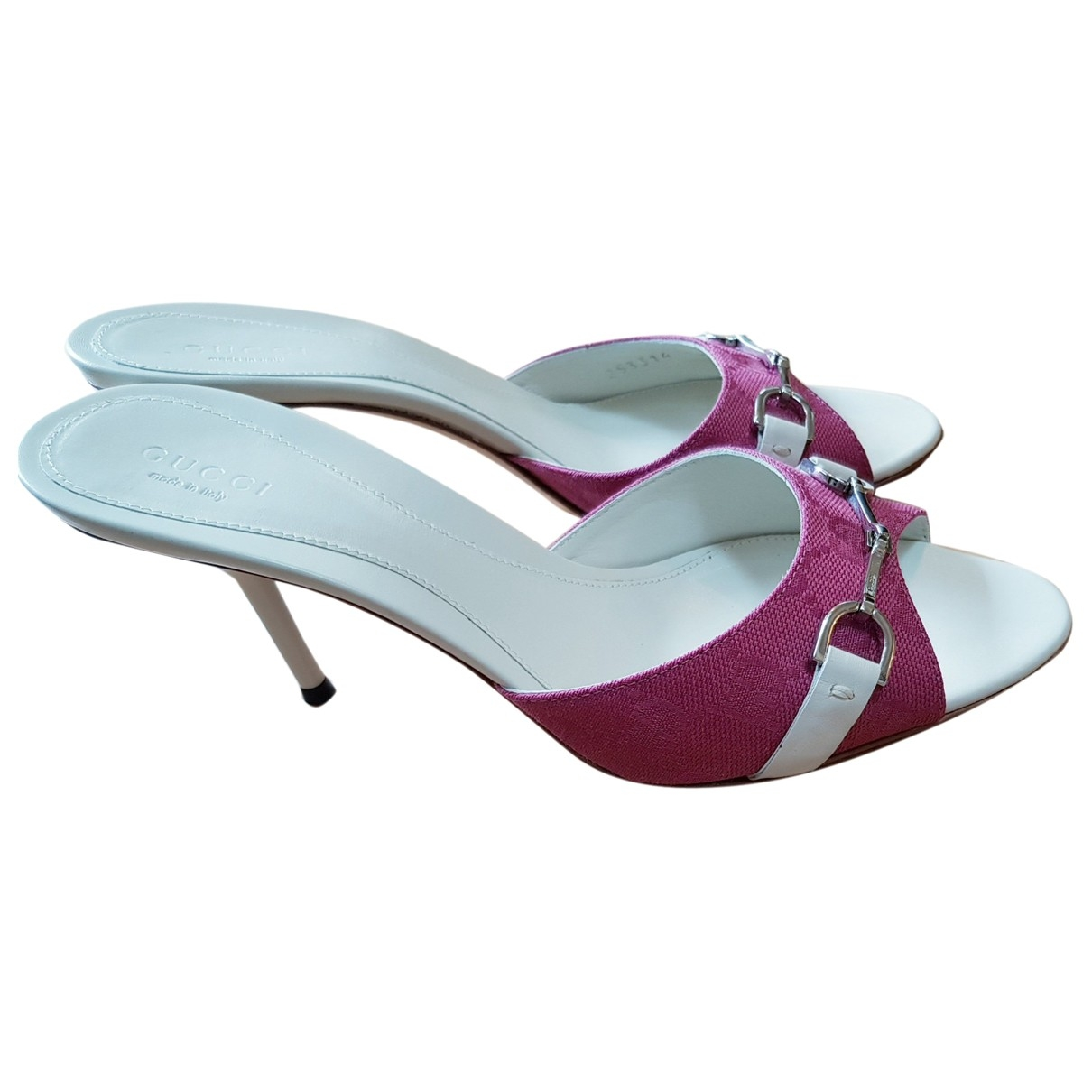 Gucci \N Pink Cloth Sandals for Women 37 EU