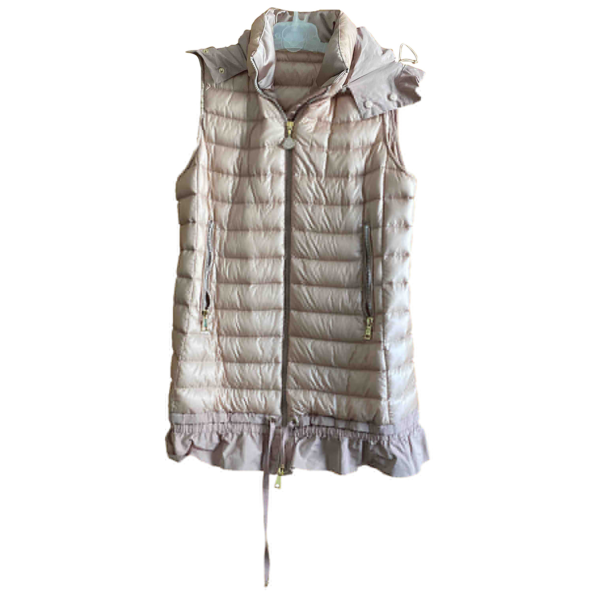 Moncler Sleeveless Jacke in  Rosa Polyester