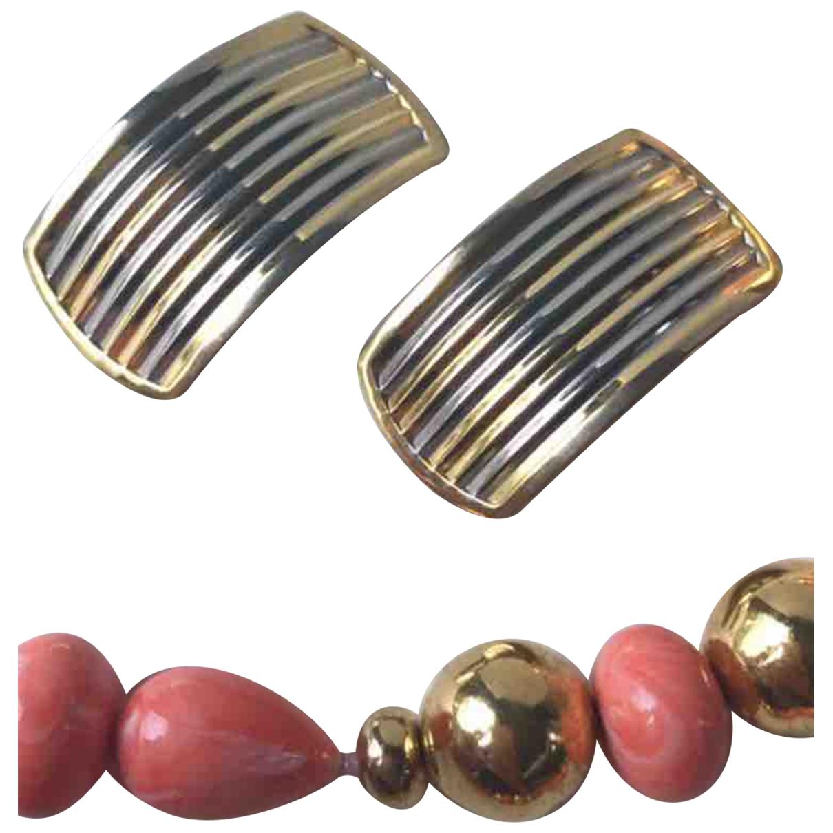 - Boucles doreilles   pour femme en metal - metallise