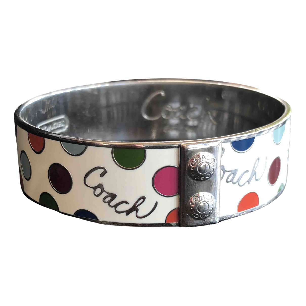 Coach \N Armband in  Weiss Metall
