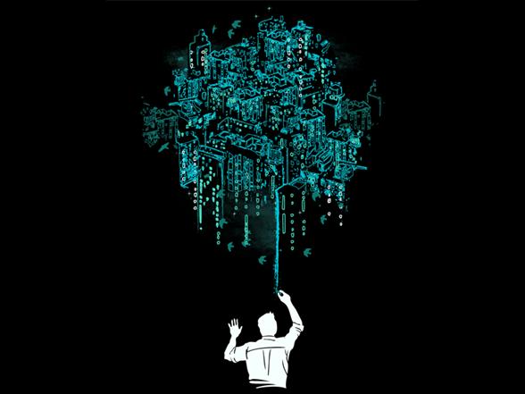 Lights Of Emerald City T Shirt