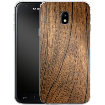 Samsung Galaxy J3 (2017) Silikon Handyhuelle - Wood von caseable Designs