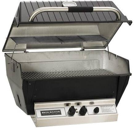 H4X 24 Deluxe Series Built-In Liquid Propane Grill with 473 sq. in. Grilling Surface  36 000 BTU Total Heat Output  H-Style Burners  2-piece