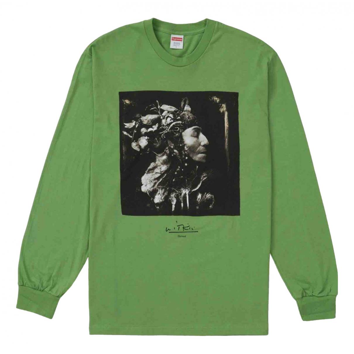 Supreme \N Pullover.Westen.Sweatshirts  in  Gruen Baumwolle