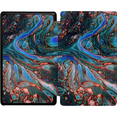 Amazon Fire HD 8 (2017) Tablet Smart Case - Marbled Darkness von Amy Sia