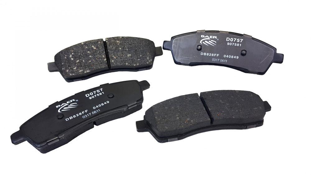 Baer Brakes Brake Pads Rear 00-05 Excursion 99-04 F250