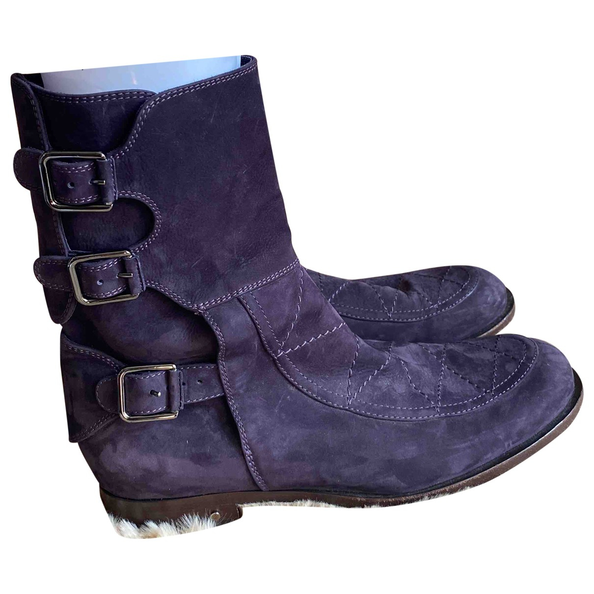 Laurence Dacade N Purple Leather Ankle boots for Women 39 EU