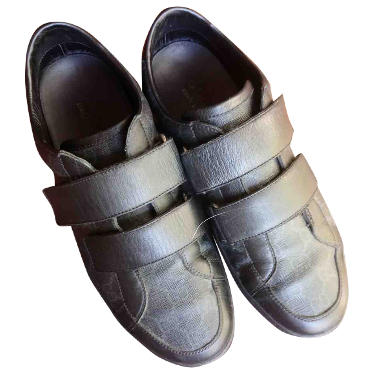 Gucci \N Black Leather Trainers for Men 40 EU