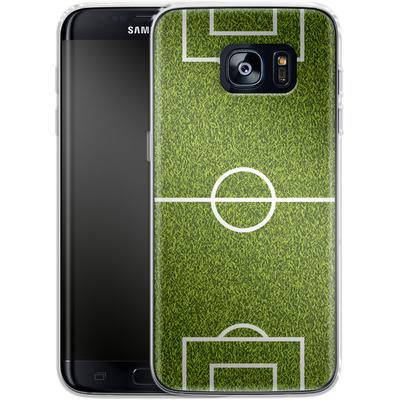 Samsung Galaxy S7 Edge Silikon Handyhuelle - Soccer Field von caseable Designs