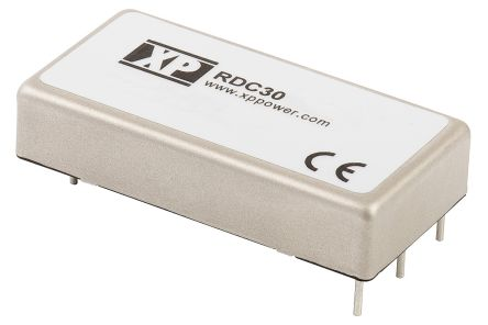 XP Power RDC 30W Isolated DC-DC Converter Through Hole, Voltage in 36 → 140 V dc, Voltage out 15V dc Railway