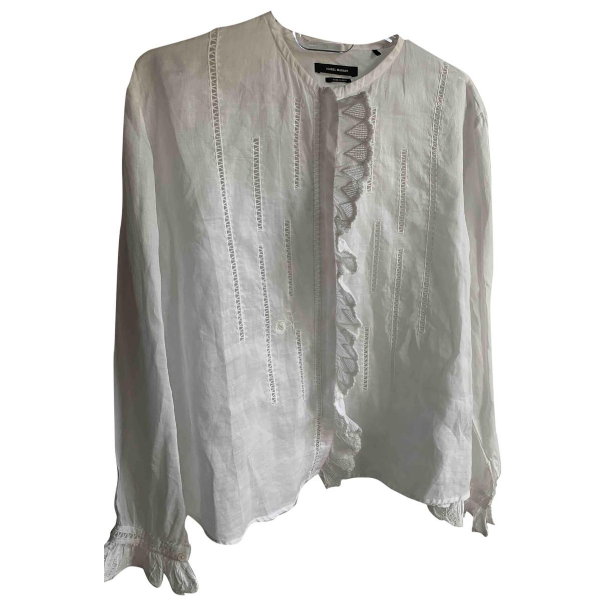 Isabel Marant N White Linen  top for Women 36 FR