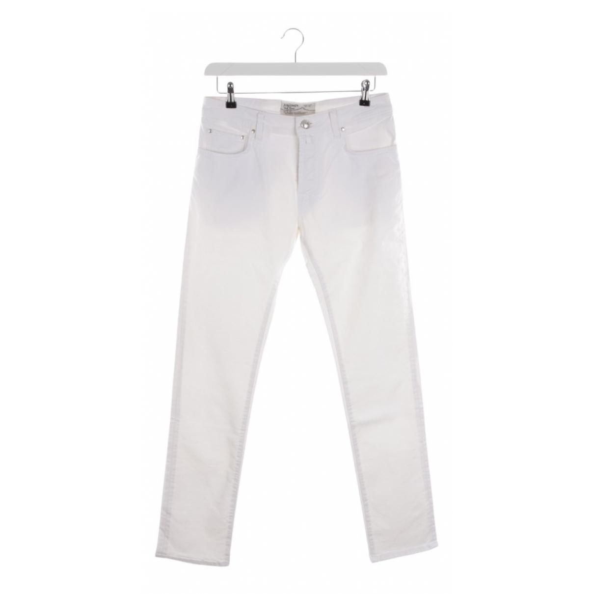 Autre Marque \N White Cotton Jeans for Women 37 FR