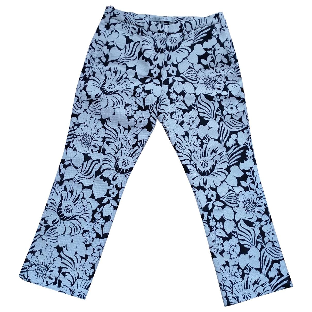Bimba Y Lola \N Black Trousers for Women 38 FR