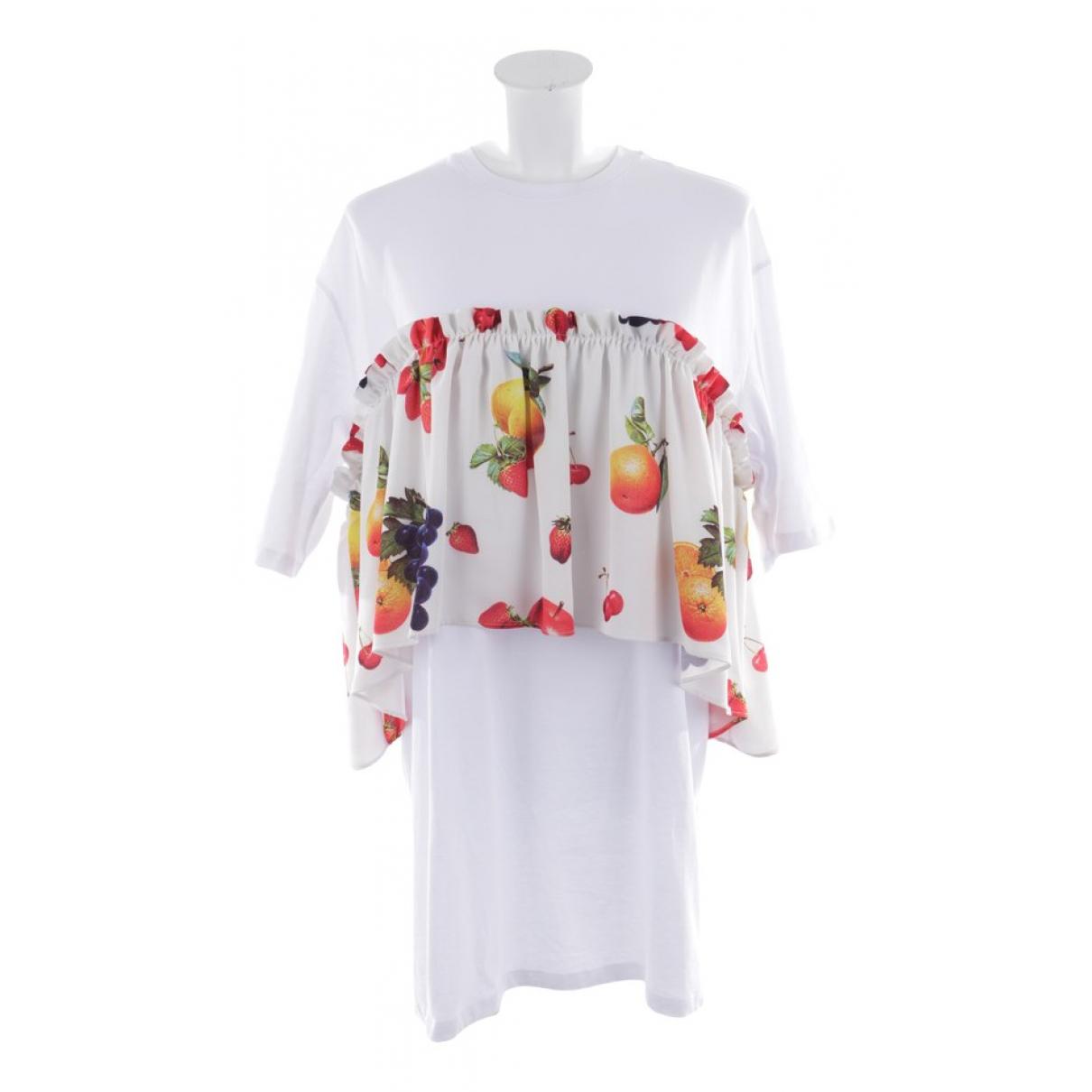 Msgm \N White Cotton dress for Women S International