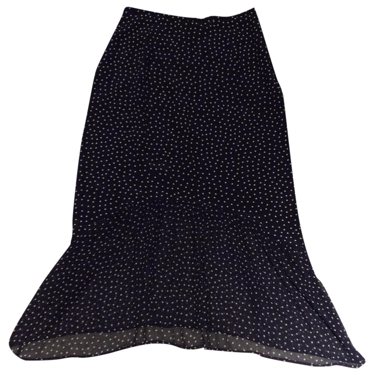 Falda midi de Seda Rixo