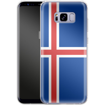 Samsung Galaxy S8 Plus Silikon Handyhuelle - Iceland Flag von caseable Designs