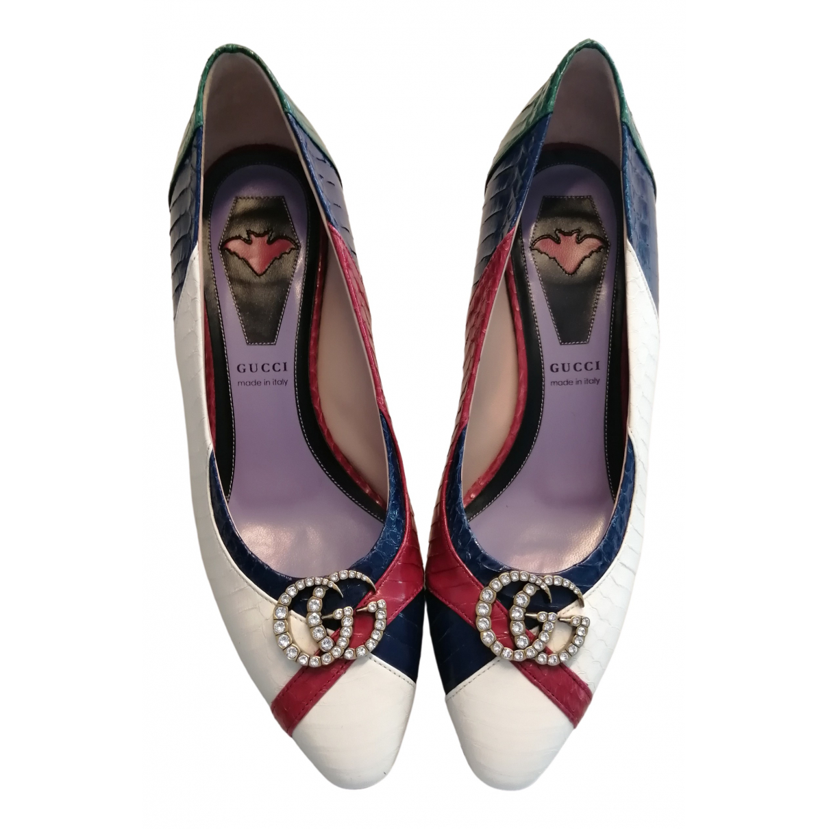 Gucci \N Multicolour Python Heels for Women 38.5 IT