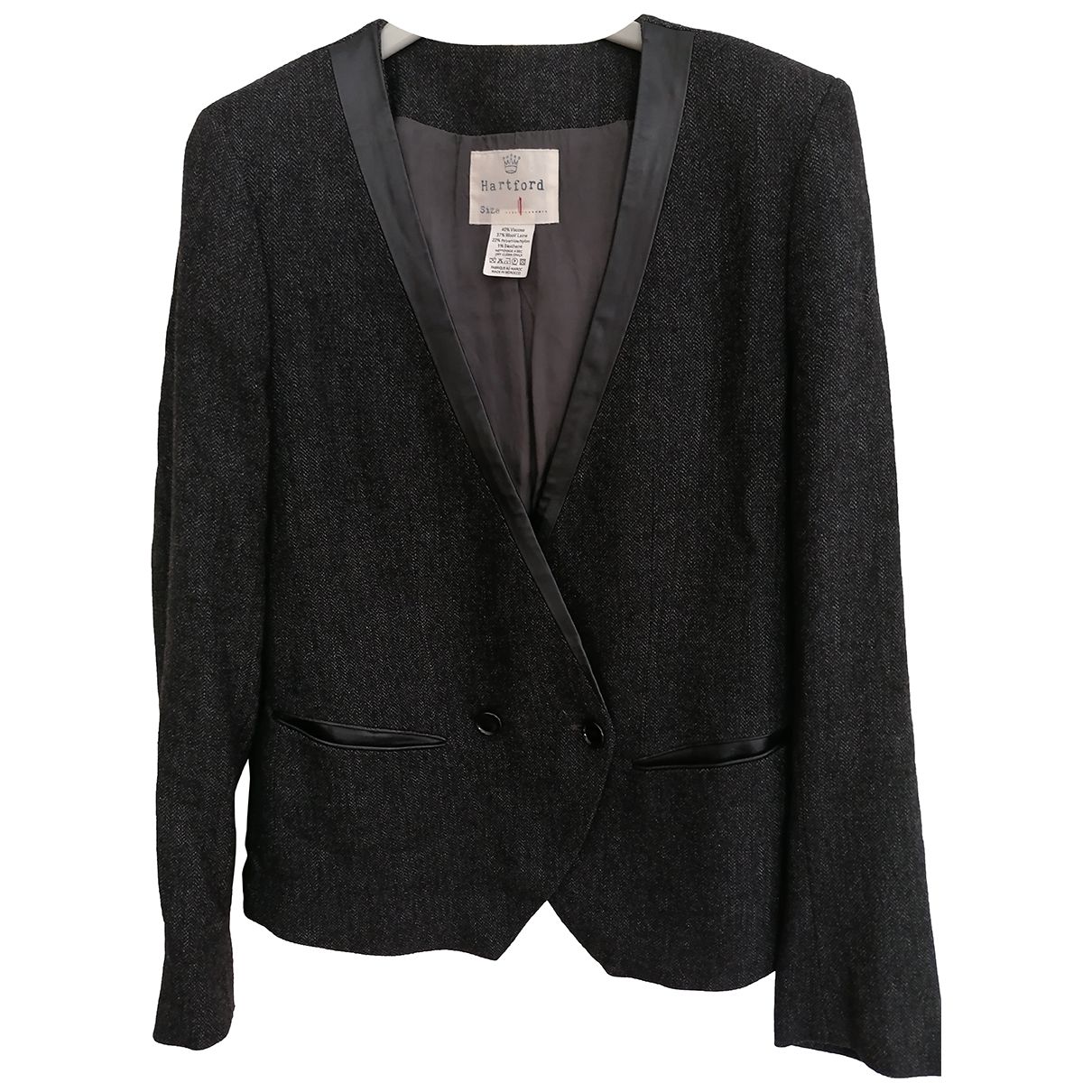 Hartford \N Anthracite Wool jacket for Women S International