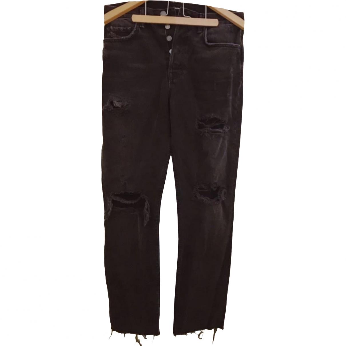 Grlfrnd \N Black Cotton Jeans for Women 39 FR